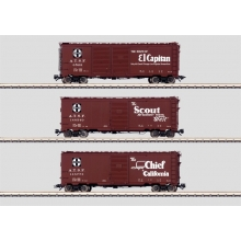 Märklin 45651 - USA-Wagenset 3 Box Cars Santa Fe