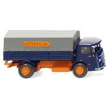 Wiking 047601 Pritschen-Lkw (Büssing 4500) - blau/orange