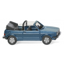 Wiking 004604 VW Golf I Cabrio - oceanic blue metallic