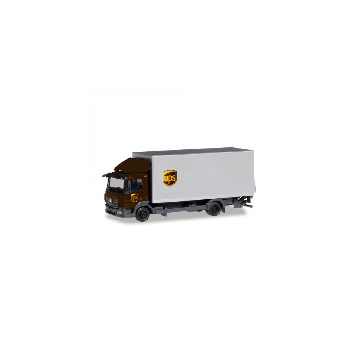 Herpa 310208 MB Atego`13 Koffer-LKW mit Ladebordwand UPS