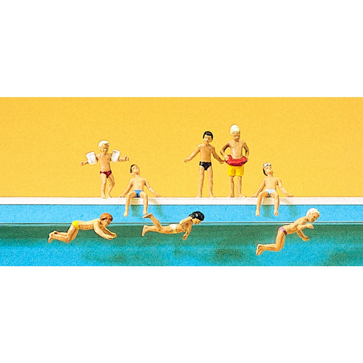 Preiser 10307 Kinder im Schwimmbad H0